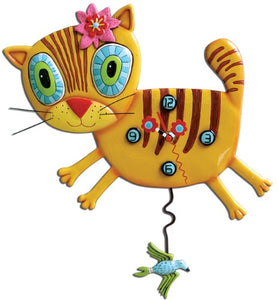 Hand painted Kimi Kitty Clock by Allen Studio Designs