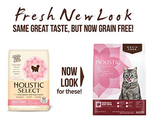 Holistic Select Natural Grain Free Dry Cat Food, Indoor Recipe, 11.5-Pound Bag