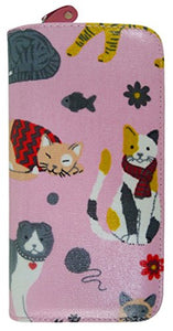 Chihuahua Pattern Purse Wallet (Mixed CAT Pink)