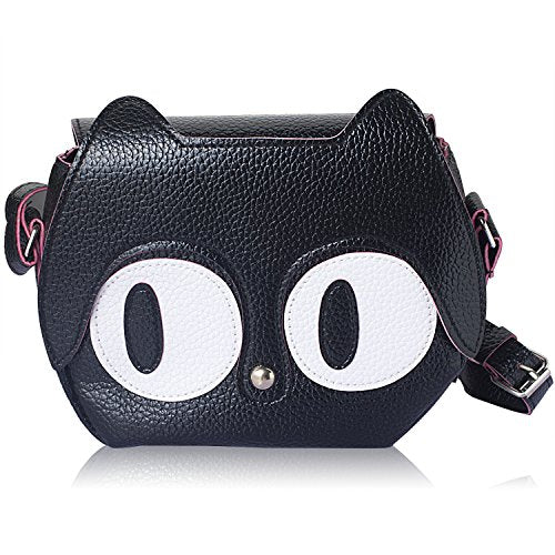 Women Cat Shoulder Bag with the Fun Black Cat Design