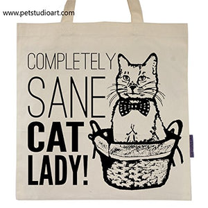 Completely Sane Cat Lady Tote Bag