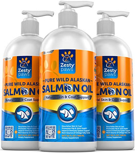 Pure Wild Alaskan Salmon Oil for Dogs & Cats, 32 Oz