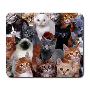Cats Mouse Pad for Cat Lovers, Machine washable