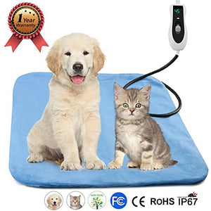 Electric Blanket Heating Blue Pad for Cats