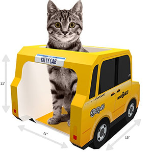 NYC Taxi Design Cardboard Cat House