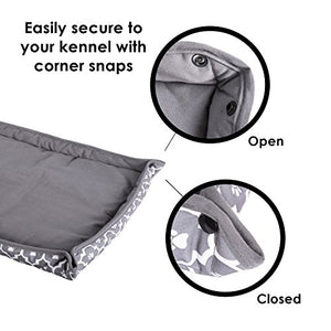 Reversible Lattice Kennel Corner Snapping Pet Mat