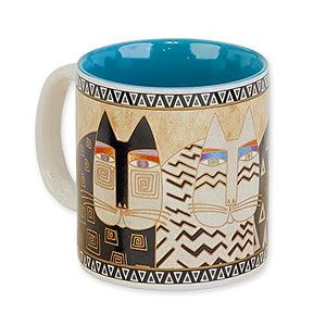 Wild Cats Vibrantly Colored Mug by Laurel Burch