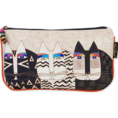 Cosmetic Bag Set of Three Wild cats by Laurel Burch, 1.4 x 10 x 6 in