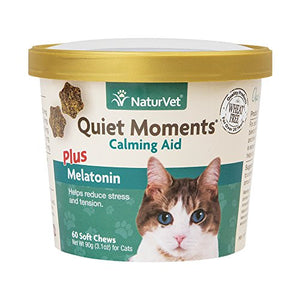 NaturVet Quiet Moments Calming Aid Plus Melatonin for Cats