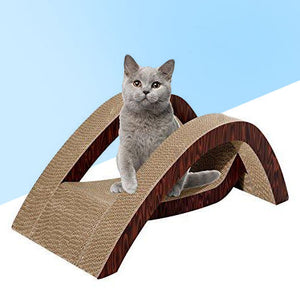 Bridge Design Cardboard Cat Scratcher