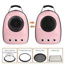 Pink Space Capsule Backpack for Pets