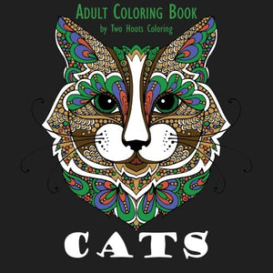Adult Coloring Book: Cats, High-resolution Images