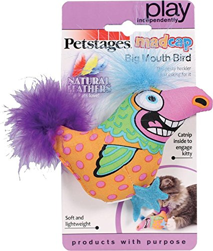 Brightly Colored Big Mouth Bird Catnip