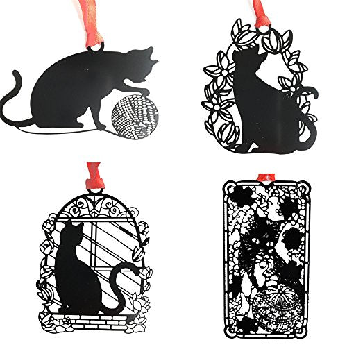 Cat Bookmarks made by Black Metal, Hollow Design, Black Spray