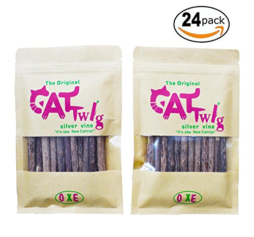 Imported Asiatic Catnip Sticks, 4.5 inch