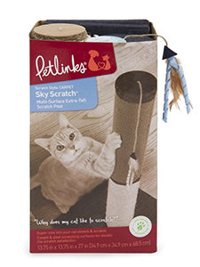Petlinks Cat Scratching Post with Feather Ribbon