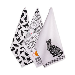 DII Cotton Decorative Cat Lover Dish Towel