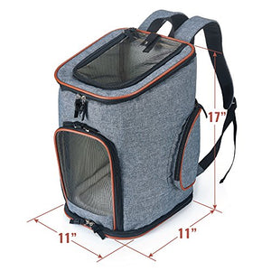 Backpack for Small Dogs and Cats with Soft-Sided
