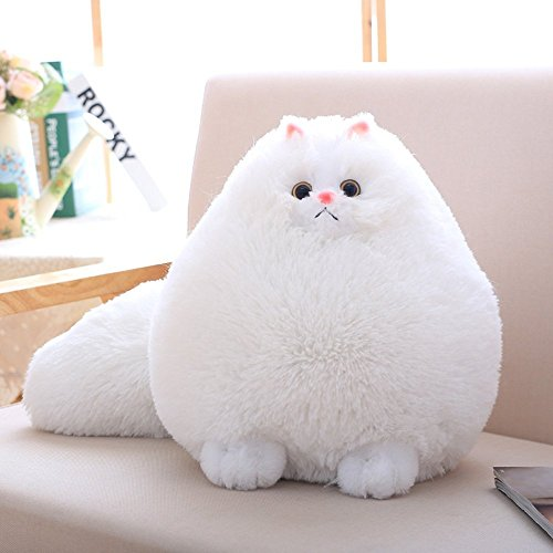 White Fat Cat Plush Toy