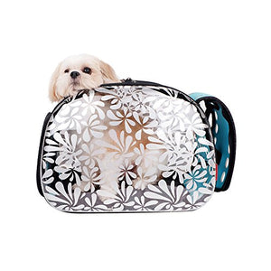 Transparent Stylish Cat Carrier, 18 x 12 x 12.5 inches