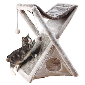 Hammock Wrapped Cat Tower