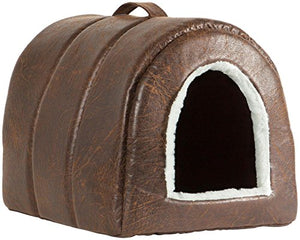 Faux Leather Igloo for Cats