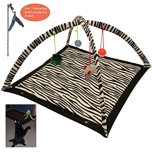 Interactive Cat Activity Mat with Toys
