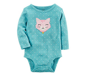 Kitty Embroidery Applique Cat Bodysuit 3 Months