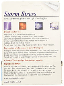 Storm Stress for Cats by HomeoPet Pro, Fast Acting Liquid