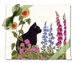 Cat Flour Sack Kitchen White Towels by Alice's Cottage