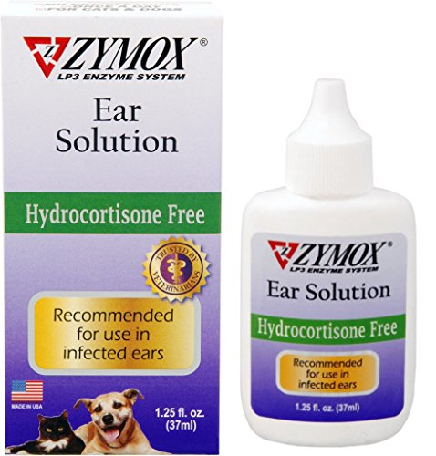 Zymox Ear Solution for Cats&Dogs, Destroys Antibiotic Resistant Microorganisms