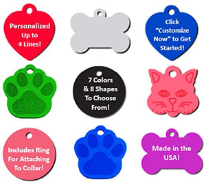 Personalized Pet ID Tag, up to 18 characters per line