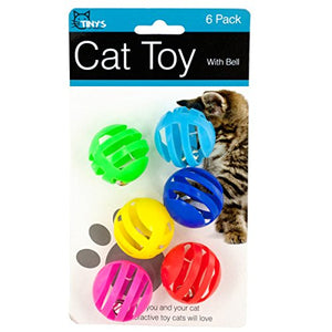 Cat Toy Balls with Bells Set