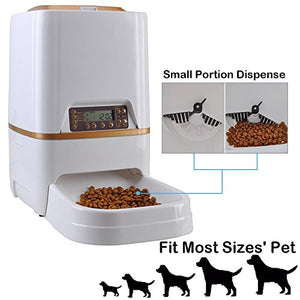 Programmable Pet Feeder Food Dispenser by WESTLINK, 6L