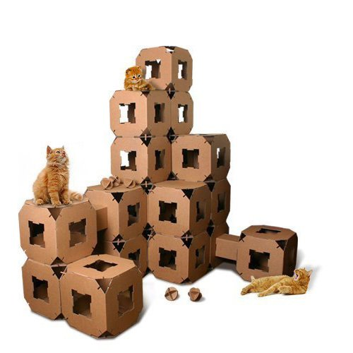 Cube Cat Cardboard Toy House