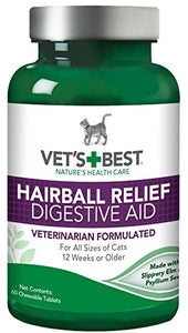 Hairball Relief Digestive Aid for Cats 12 Weeks or Older by Vet's Best