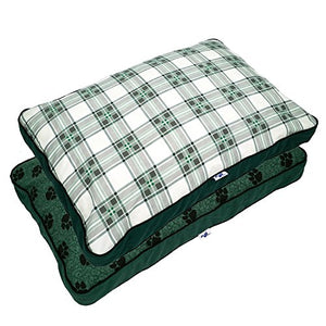 Green-White Pillow Cat Bed