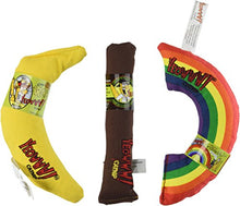 Variety pack of toys, Cigar, Banana, Rainbow