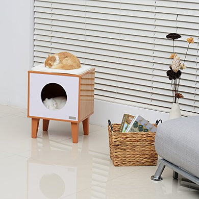 Modern Elevated Square Cat House