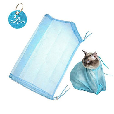 Polyester Cat Shower Bag with a Carykon Key Chain