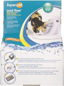 Aspen Cool Flow Pet Fountain, Medium, White