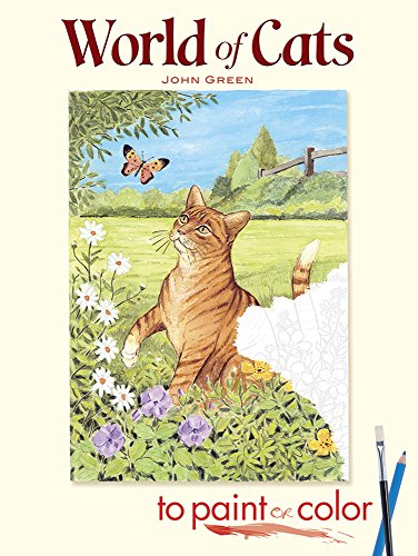 World of Cats to Paint or Color, Coloring Book, 48 pages