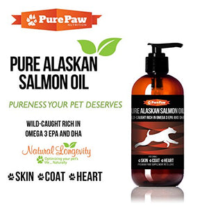 Pure Paw Pure Alaskan Salmon Oil, Skin-Coat-Heart, 8 fl oz