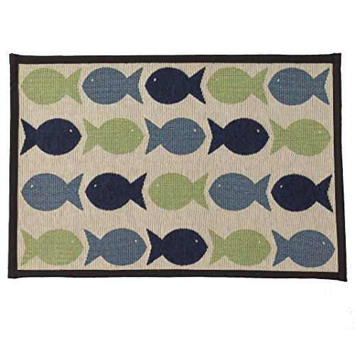 Kool Fishies Tapestry Mat Feeder for Cats