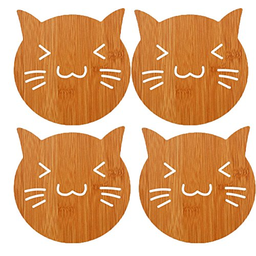 Cat Cartoon Heat Resistant Dining Table Placemats Coaster