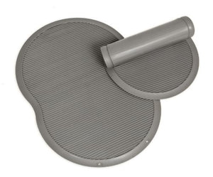 Petmate Le Bistro Single Pet Food Mat, Gray, Small