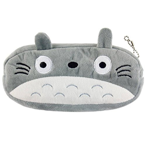 Plush Fatty Cat Face Design Pencil Bag, 7.8