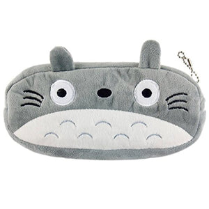 "Plush Fatty Cat Face Design Pencil Bag, 7.8"" x 4.1"""