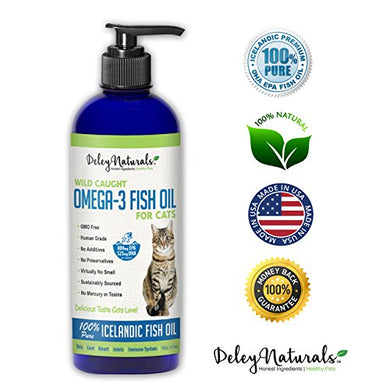 Wild Caught, Omega 3 100% Pure Iceland Fish Oil for Cats
