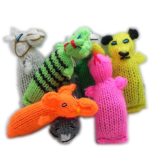 6 Pack Barn Yarn Hand Knit Wool Cat Toys with Catnip
